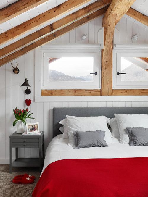 Camera da letto scandinava con moquette foto idee arredamento - Camera da letto con camino ...