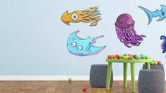 Sea Creature Animal Wall Design