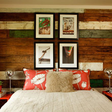 Reclaimed Wood Bed Backdrop