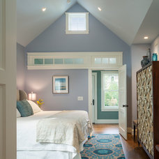 Transitional Bedroom by Ronald F. DiMauro Architects, Inc.