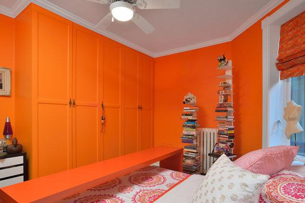 orange bedrooms. Contemporary Bedroom by Arnal Photography Dreaming in Color  6 Sensational Orange Bedrooms