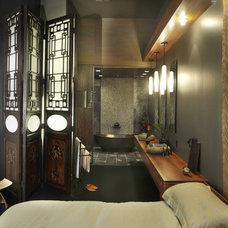 Eclectic Bedroom by Amelie de Gaulle Interiors