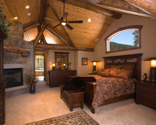 Western theme bedroom ideas pictures remodel and decor Traditional rustic master bedroom
