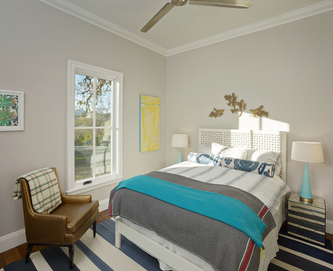 Farmhouse Bedroom by Bevan Associates