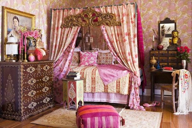 Восточный Спальня Shabby-chic Style Bedroom