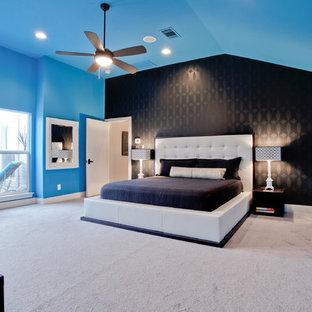 Ispirazione per una camera da letto design
