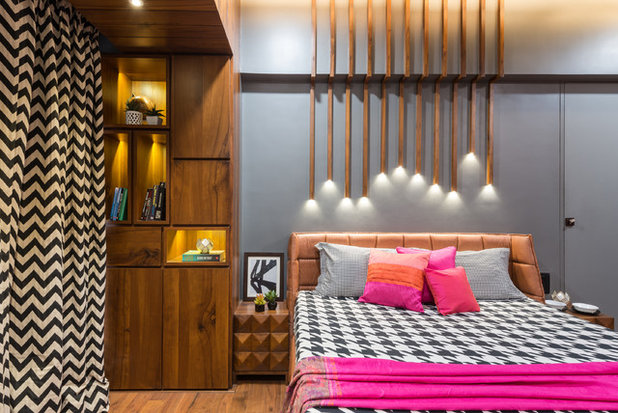 Contemporary Bedroom by Da Namah design studio
