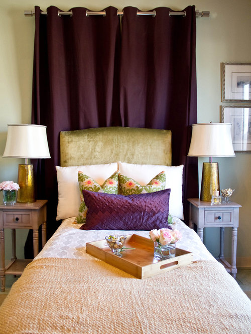 Plum And Cream Bedroom Design Ideas Remodels Photos Houzz