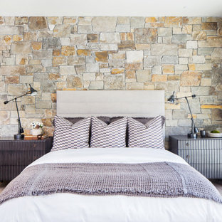 75 Beautiful Rustic Bedroom With Brown Walls Pictures Ideas March 2021 Houzz