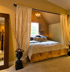 eclectic bedroom by Witt Construction