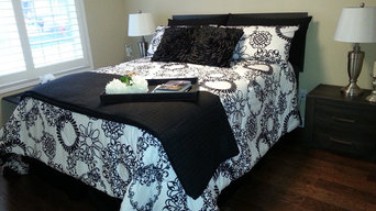 Showcasing Bedroom Using Client Owned Furniture & Accessories