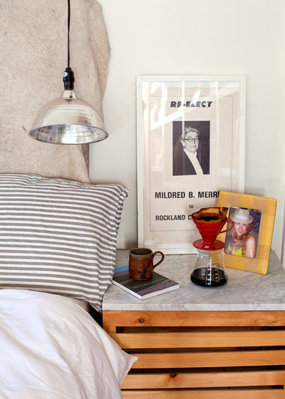 Eclectic Bedroom Side table display