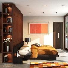 Modern Bedroom by Houseplans.com