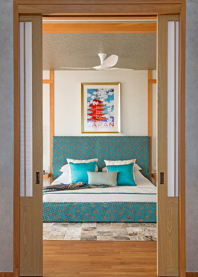 Asian Bedroom by DESIGN INTERVENTION