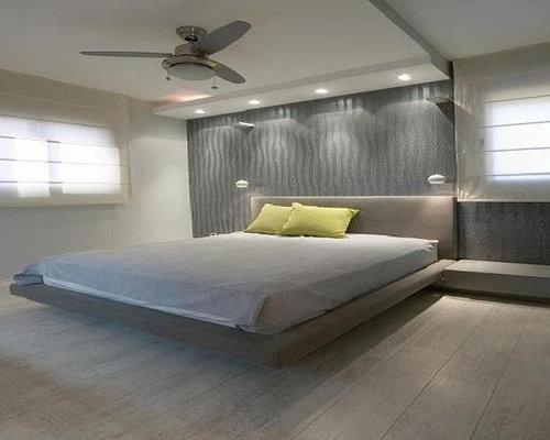 Floating platform bed houzz for Levitating bed