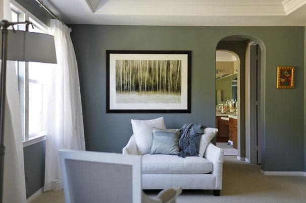 Contemporary Bedroom Sitting Area