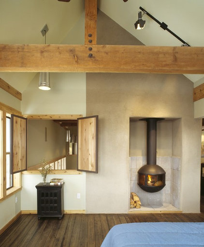 rustic bedroom by Webber + Studio, Architects