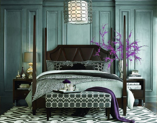 Contemporary Bedroom by Rugs Done Right