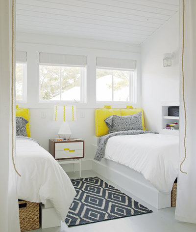 Transitional Bedroom by Rethink Design Studio