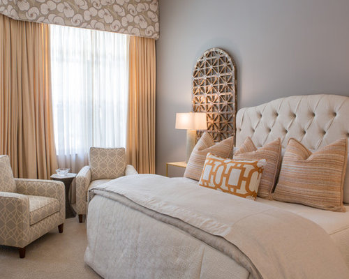 traditional master bedroom grey. This Is An Example Of A Traditional Master Bedroom In Miami With Grey Walls And Carpet R