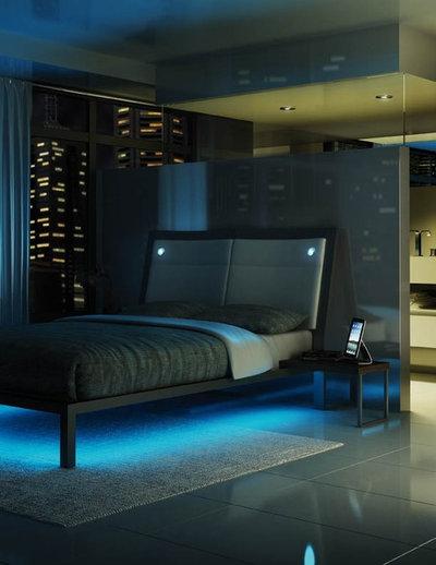 Moderno Dormitorio by SLR Lighting