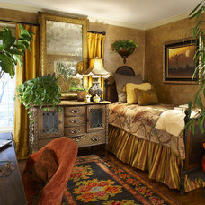 Eclectic Bedroom by Grace Designs Dallas