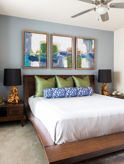 Transitional Bedroom by LeTricia Wilbanks Design