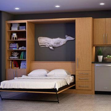 Small Space Kitchen, Bedroom & Media Center Design