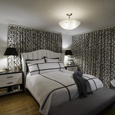 Transitional Bedroom by Interiors by Mary Susan
