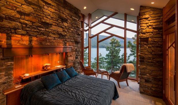 Rustic Bedroom by Jennings + Santa-Rita Architects, PLLC
