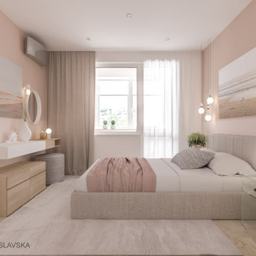 Soft. Interior design for young girl.
