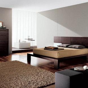 Minimalist master bedroom photo in New York