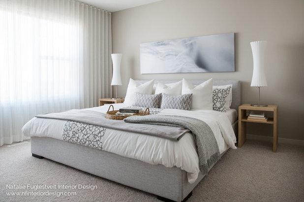 モダン 寝室 by Natalie Fuglestveit Interior Design