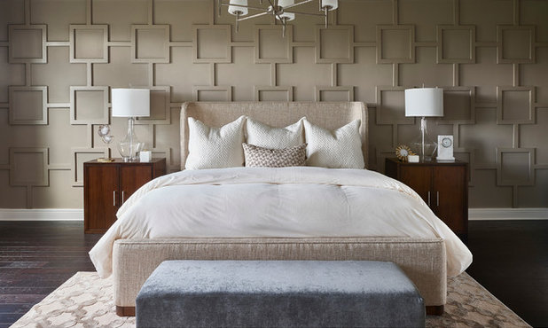 Transitional Bedroom by Tina Marie Interior Design