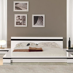 Sonata - Platform Bed in White - Features