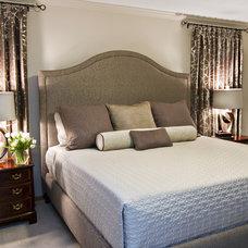 Eclectic Bedroom by Alison Besikof Custom Designs