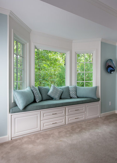 Traditional Bedroom by Handcrafted Homes  Inc. How to Add a Window Seat