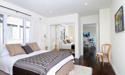 Soothing Vintage Global Modern Bedroom in Silverlake
