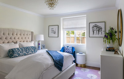 A Sophisticated Bedroom for a College Student Who Comes Home