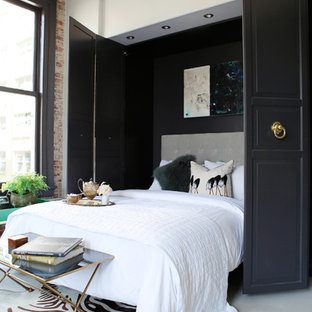 Small trendy guest bedroom photo in Los Angeles with white walls