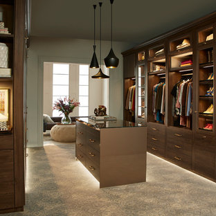 Sophisticated Couple's Walk-in Closet