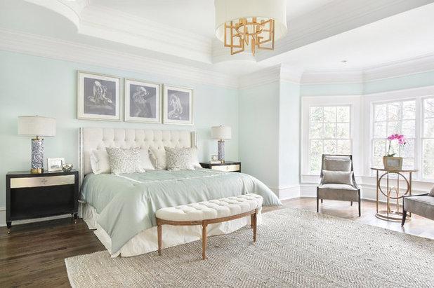 Transitional Bedroom by VRA Interiors, LLC