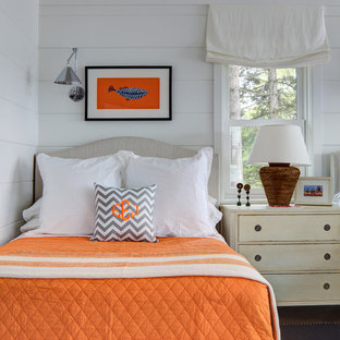 Design ideas for a beach style bedroom in Milwaukee.
