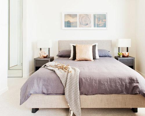 Mauve bedroom design ideas renovations photos with white walls - Mauve bedroom decorating ideas ...