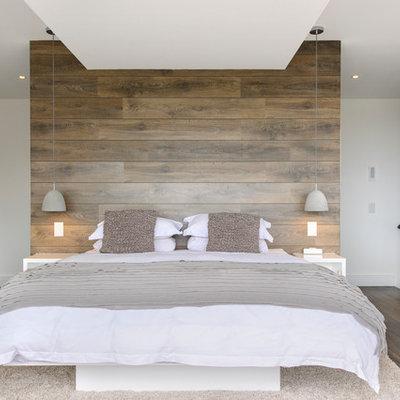 Trendy bedroom photo in Sydney