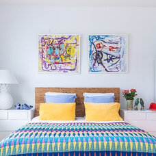 Eclectic Bedroom by Stamp Interiors