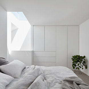 Photo of a contemporary bedroom in Melbourne.