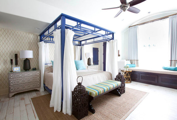 Mediterranean Bedroom by Laura U, Inc.