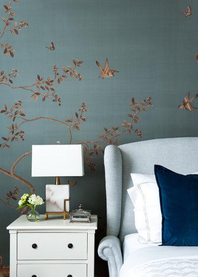 トランジショナル 寝室 by Alexander Pollock Interiors