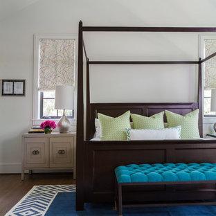 Bedroom - transitional master bedroom idea in Houston